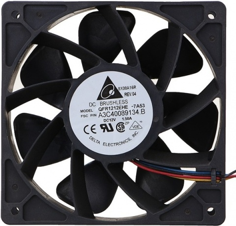 Купить вентилятор (кулер) для майнера Bitmain (120 мм, 7000 об/мин) с гарантией