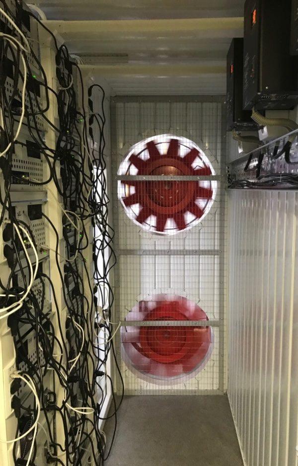 40 футовый контейнер для майнинга внутри вентиляторы